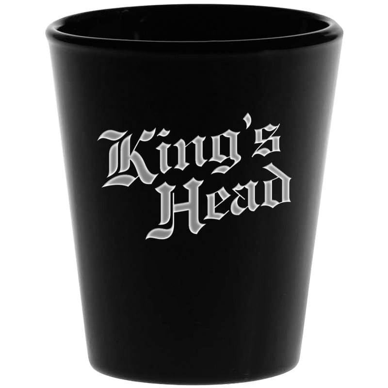 1.75 oz. Black Shot Glass - Deep Etched