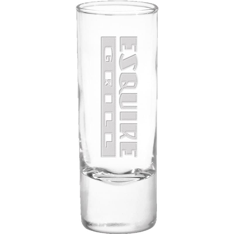 2 oz Shooter Shot Glass - Deep Etched