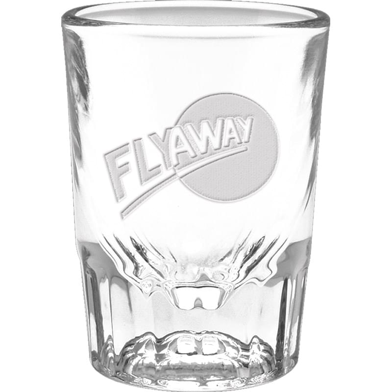 2 oz. Fluted Shot Glass - Deep Etched