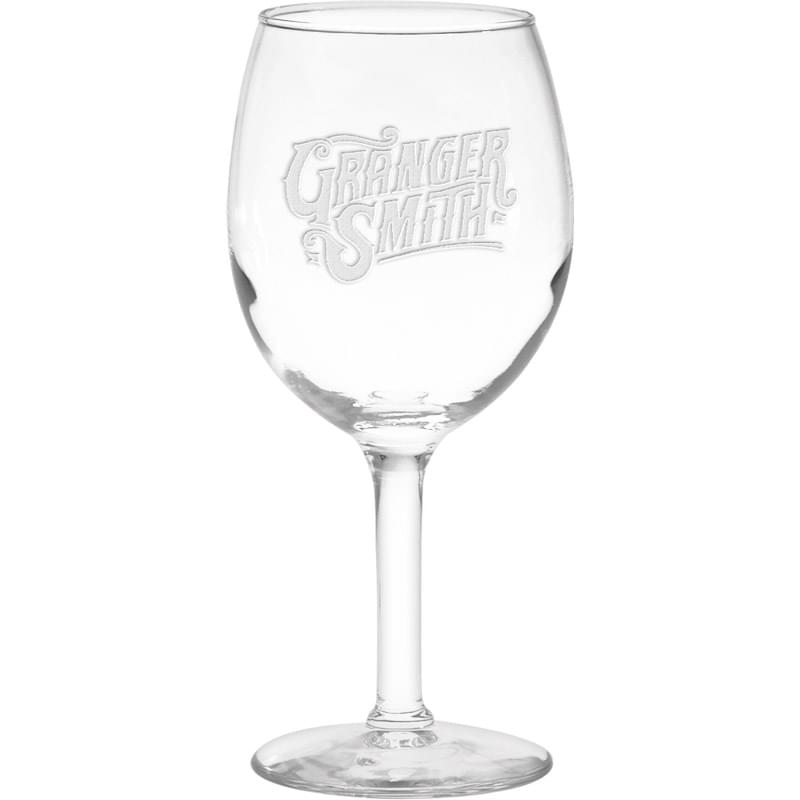 11 oz. Wine Glass - Deep Etched