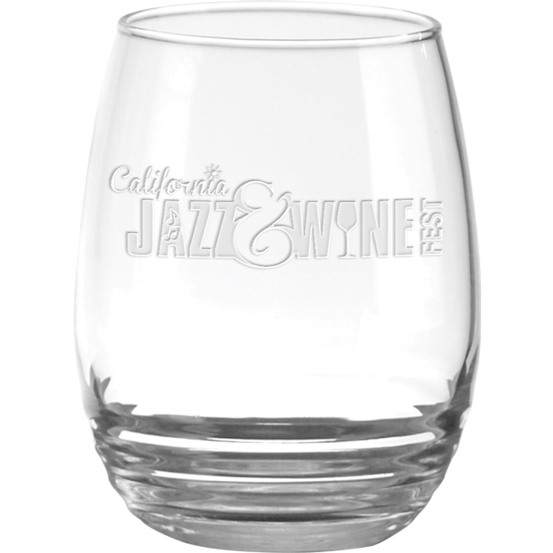 11 oz. Eminence White Wine Stemless - Deep Etched