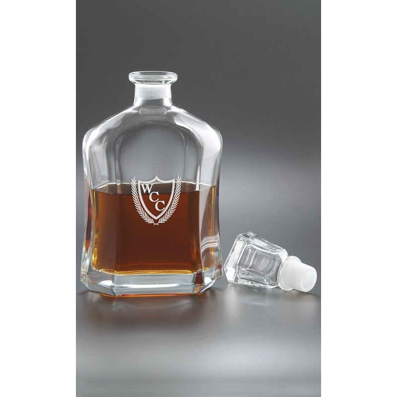 26 oz. Capitol Decanter - Deep Etched