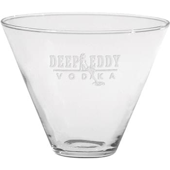 13.5 oz. Stemless Martini - Deep Etched