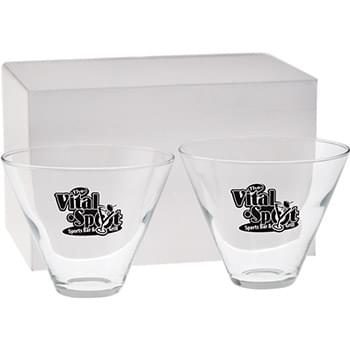 13.5 oz. Stemless Martini Gift Set