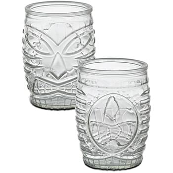 16 oz. Tiki Glass - Deep Etch