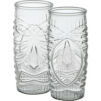 20 oz. Tiki Cooler - Deep Etched
