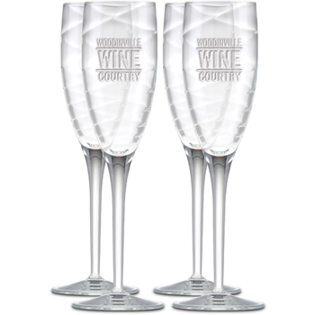 6.75 oz. Romantica Champagne Set of 4-Deep Etched