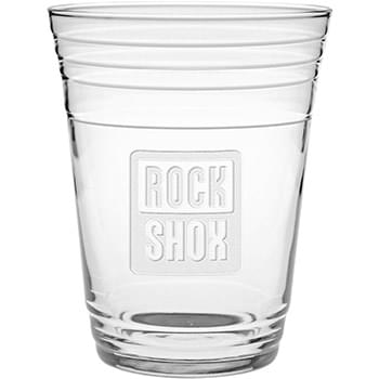 16 oz. Glass Fill Up Cup - Deep Etched