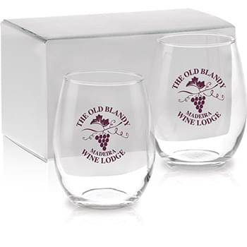 Stemless White Wine Gift Set