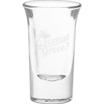 1 oz. Tall Shot Glass - Deep Etched
