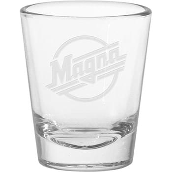 1.75 oz. Tapered Shot Glass - Deep Etched