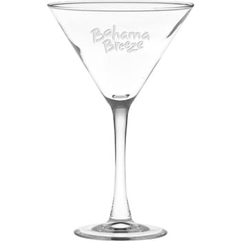 10 oz. Classic Stem Large Martini - Deep Etched