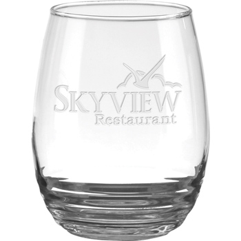 17 oz. Eminence Stemless Red Wine - Deep Etched