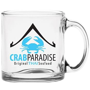 13 oz. Clear Glass Coffee Mug