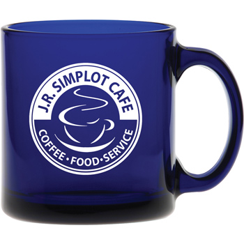 13 oz. Midnight Blue Glass Coffee Mug