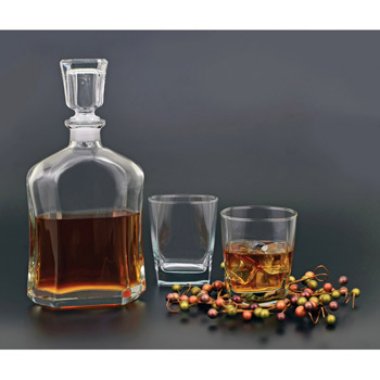 3 Piece Decanter Set - Deep Etch