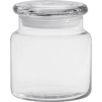 16 oz. Apothecary Jar with Flat Lid - Deep Etched