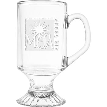 10 oz. Irish Coffee Mug - Deep Etched