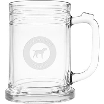 15 oz. Maritime Glass Tankard - Deep Etched