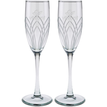 Set of Two - 6 oz. Arches Cut Flute