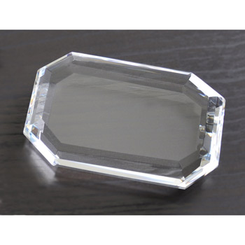 Faceted Rectangle Paperweight