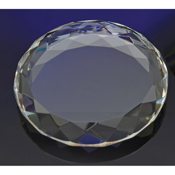 Faceted Circle Paperweight