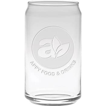 16 oz.Deep Etch Soda Can Glass